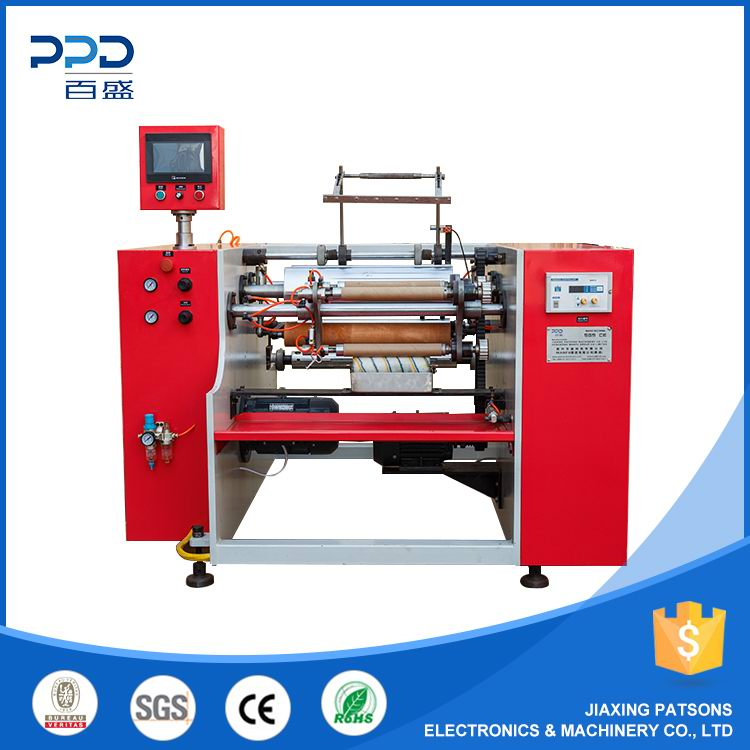 3 shaft silicon paper rewinding machine, PPD-3SHPF450