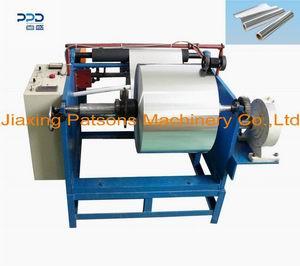 Manual aluminum foil roll rewinder machine, PPD-MAFR450